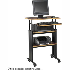 Safco® 1929CY Muv™ Stand-up Adjustable Height Workstation - Cherry