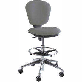 Safco Metropolitan Extended Height Drafting Stool Chair - Fabric - Gray