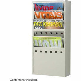 5 Pocket Steel Magazine Rack - Gray