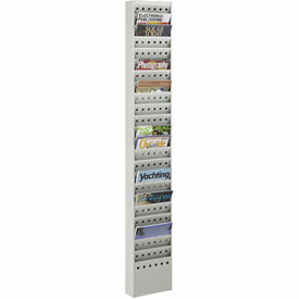 23 Pocket Steel Magazine Rack - Gray