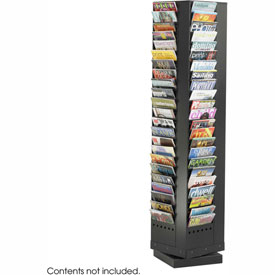 92 Pocket Steel Rotary Magazine Rack - Black