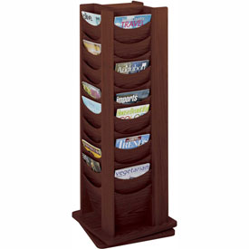 48 Pocket Solid Wood Rotating Display - Mahogany