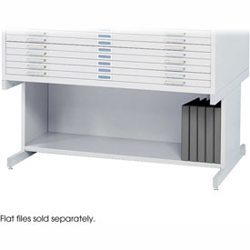 Optional High Base for 10 Drawers Steel Flat Files - White