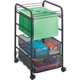 Safco® 5215 Onyx™ Mesh Open File with Drawers