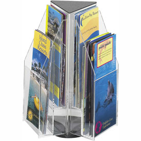 Clear 6 Pamphlet Tabletop Displays