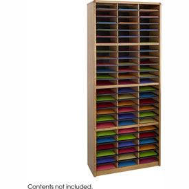 72 Compartment Economy Literature Organizer - Medium Oak