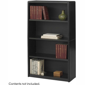 4-Shelf Economy Bookcase - Black