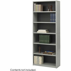 6-Shelf Economy Bookcase - Gray