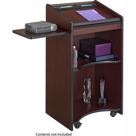 Executive Mobile Podium / Lectern - Mahogany
