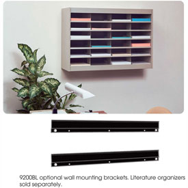 "Wall Mounting Bracket for 25"" - 72"" Literature Organizers"