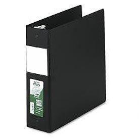 "Antimicrobial Locking Round Ring Binder For 11 X 8-1/2 Sheets, 3"" Cap., Black"