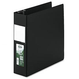 "Antimicrobial Locking D-Ring Binder For 11 X 8-1/2 Sheets, 3"" Cap., Black"