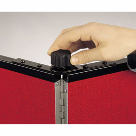 Screenflex Black Powdered Painted Metal Panel Lock for 5 Panel