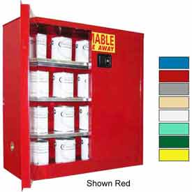 Securall® 40-Gallon Manual Close, Paint/Ink Cabinet Yellow