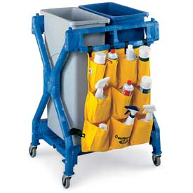 Continental X-Frame Janitor Cart- 37-1/2 X28X36-1/4""