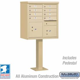 Salsbury Cluster Box Unit, 8 A Size Doors, Type I, Sandstone, Private Access