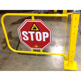 Safe2Cross Manual Heavy Duty Gate with Stop Sign