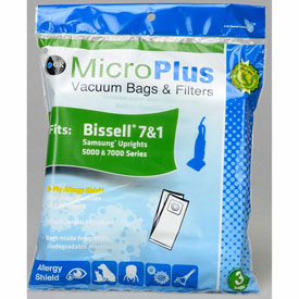 Bissell - 7 & 1 Model Fits Samsung Uprights 5000 & 7000 Series. Replacement Vacuum Bags - GKH-BIS7