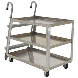 Vestil 3 Shelf Aluminum Stockpicker Truck SPA3-2236