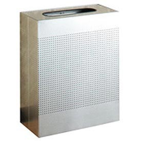 Rubbermaid® Silhouette SR18 Rectangular Open Top Receptacle, 40 Gallon - Stainless Steel