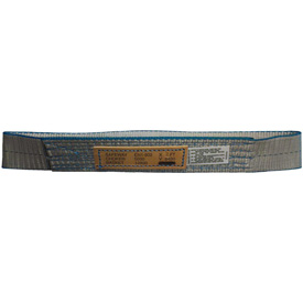 """Safeway 2"""" x 12' Endless Polyester """"Grizzly Edge"""" Sling, 1-Ply Gray"""