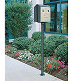 "Surface Mount Pole For Smokers Station, Black, 2""Dia x 51""H"