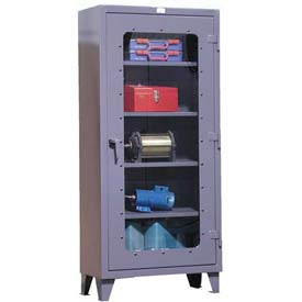 Strong Hold® Heavy Duty Slim-Line Clearview Cabinet 36.1-LD-164 - 36 x 16 x 72