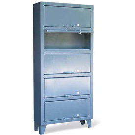 "Strong Hold Lift-Up Door Cabinet 36-120-5LV - 36""W x 12""D x 78""H"