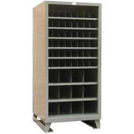 Strong Hold® Heavy Duty Open-Metal Bin Storage 368PH-51VD-SB - 36 x 36 x 78