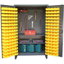 Strong Hold® Pegboard Bin Tool Storage Cabinet 46-BSPB-242 -  With 144 Bins 48 x 24 x 78