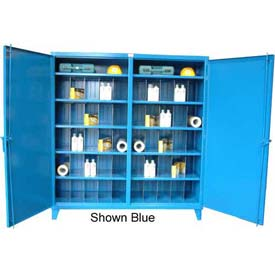 Strong Hold® Independent Lock Cabinet 66-DS-242-8PH-40 - Double Door With Dividers 72 x 24 x 78