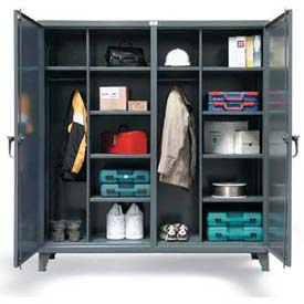 Strong Hold® Independent Locking Wardrobe Cabinet 66-DSW-2410 - Double-Door 78 x 24 x 78