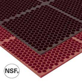Optimat Safety/Anti-Fatigue Drainage Mat - 3' x 2' - Brown