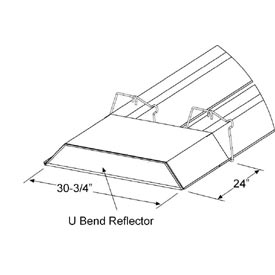 SunStar U-Bend Reflector Kit - For U-Shaped Infrared Tube Heaters 43488000