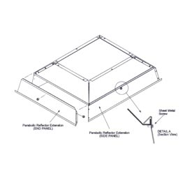 SunStar Parabolic Reflector Extension - 41690121 For 30,000 to 40,000 BTU Ceramic Heaters