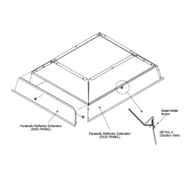 SunStar Parabolic Reflector Extension - 41690124 For 130,000 to 155,000 BTU Ceramic Heaters