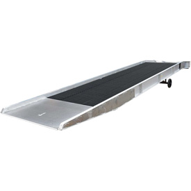 Vestil Aluminum Yard Ramp SY-168436-L with Steel Grating 36'L 16,000 Lb. Cap.