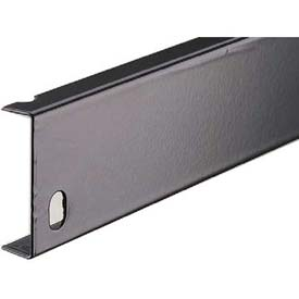 "Tri-Boro Base for Nut and Bolt Shelving 2""H x 36""W, Dark Gray"