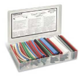 "Shrink-Kon Thin-Wall Heat-Shrink Tube, Assortment Precut In 6"" Lengths, Multi-Colored-Min Qty 6"