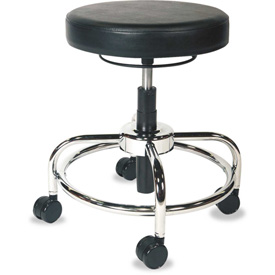 Alera Plus™ Utility Stool - Vinyl - Black