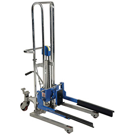Vestil Adjustable Box Stacker ABS-130 - Foot Pump Operated - 380 Lb. Capacity