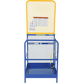 "Work Platform - Single Side Door Entry with Extended Back - 36""W x 36""L"