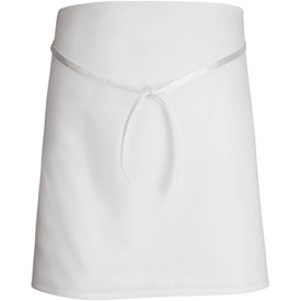 "Chef Designs 4-Way Bar Apron, White, Polyester/Cotton, 29"" x 32"""