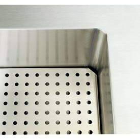 "Signature Server® - Perforated False Bottom for 74"" Cold Food Station"