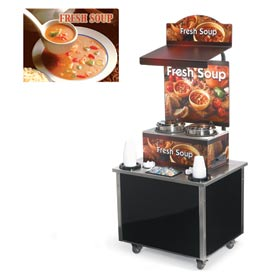 Cayenne® - Twin Well 7 Qt. Soup Merchandisers - Kiosks Seaside