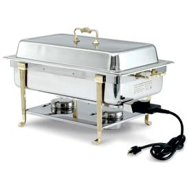 Brass Trim Electric Chafer - Short Side