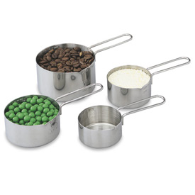 4 Piece Measuring Cup Set, Stainless Steel - Pkg Qty 12