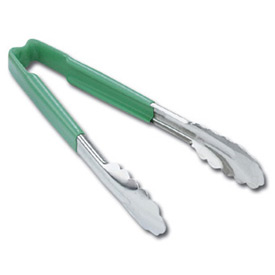 "9.5"" 1 Piece Utility Tong - Green - Pkg Qty 12"