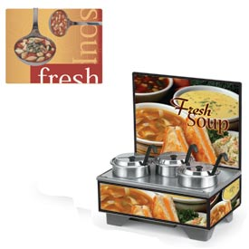Cayenne® - 4 Qt. Full Size Merchandisers with Menu Board - Ladels