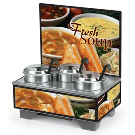 Cayenne® - 4 Qt. Full Size Merchandisers with Menu Board - Homestyle